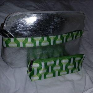 2 piece Clinique makeup bag set